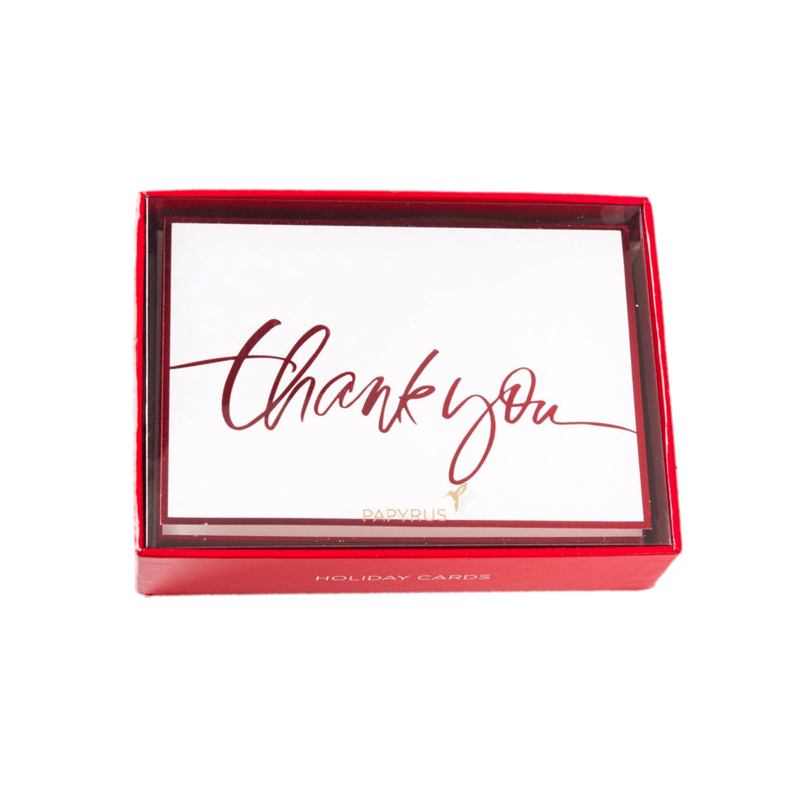 Red Foil Boxed Thank You Cards Set Of 12 Anas