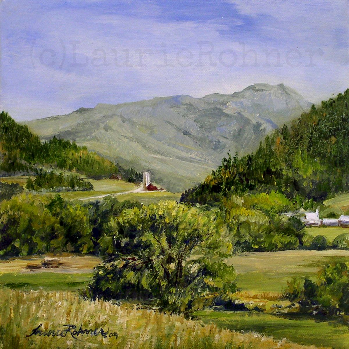 Vermont Scenic Landscape Oil Painting Nature Art