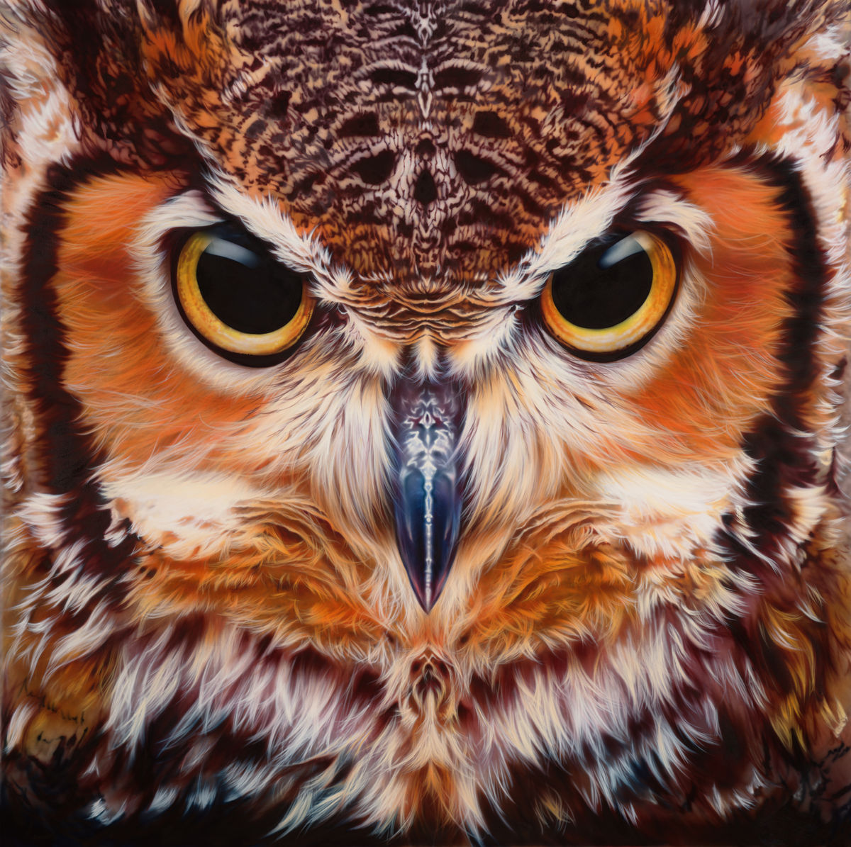 Bubo Virginianus - Great Horned Owl Print Limited Edition