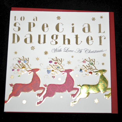 Hand Finished Special Daughter Christmas Card Karenza