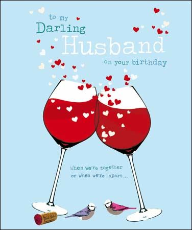 To My Darling Husband On Your Birthday Card Karenza Paperie