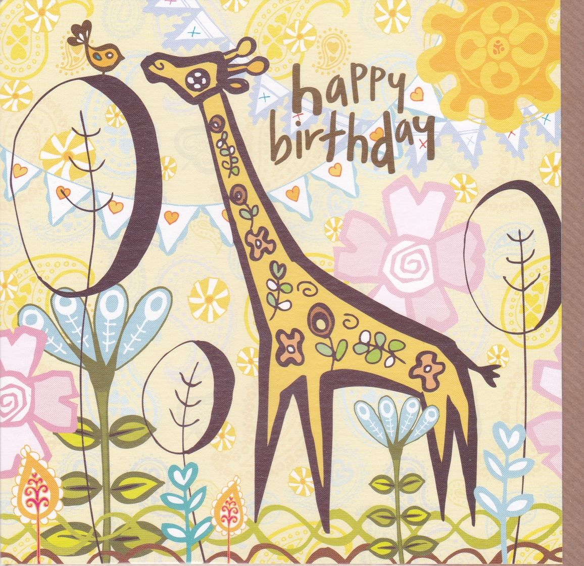 Giraffe Birthday Card Karenza Paperie
