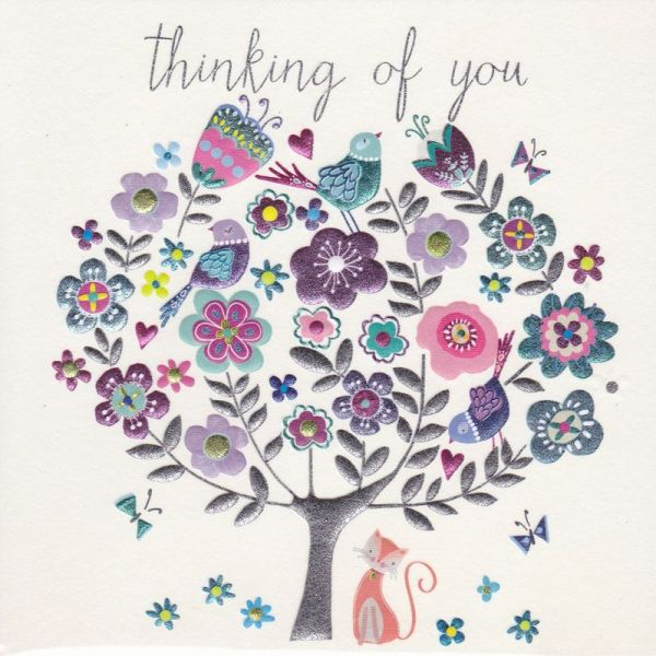 thinking of & warm wishes cards