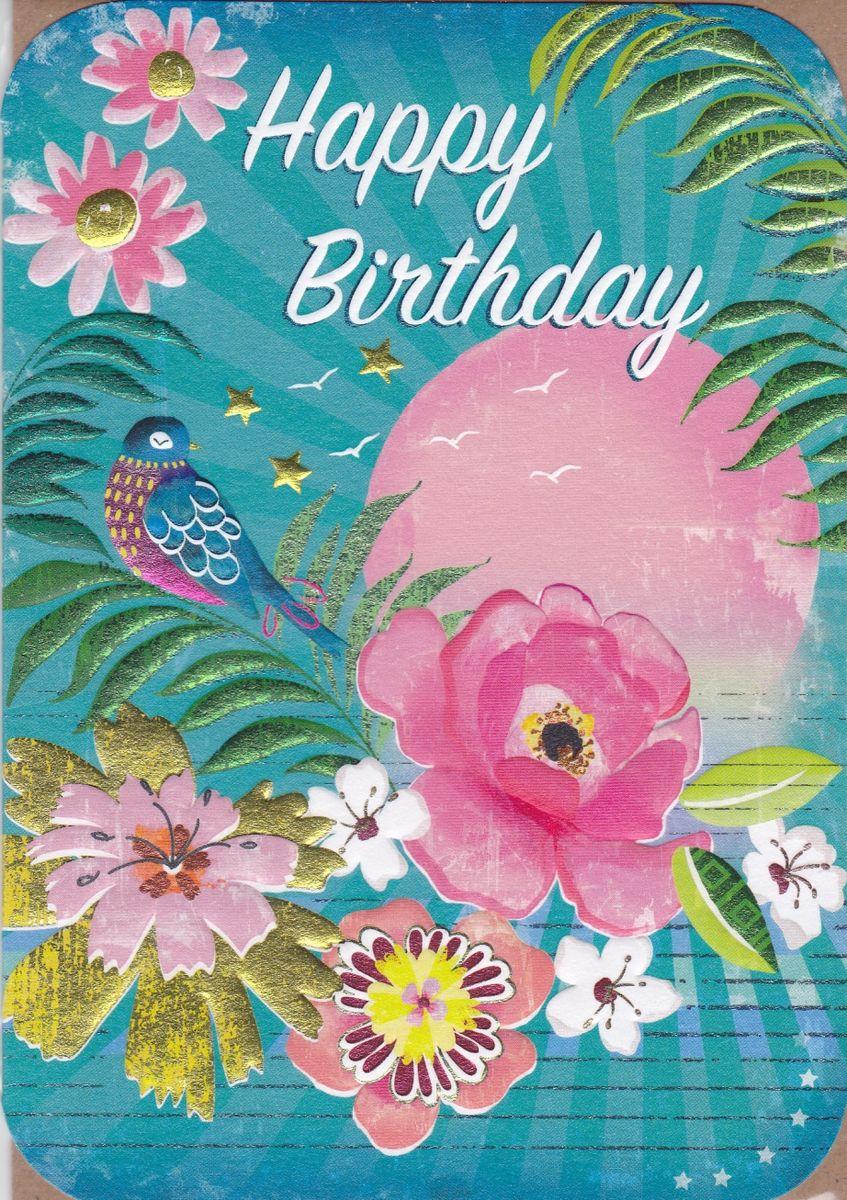 Bird & Sun Birthday Card - Karenza Paperie