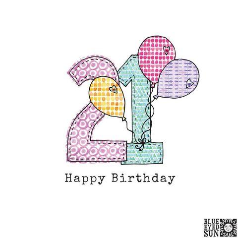 Sister 21st Birthday Card Large Luxury Birthday Card