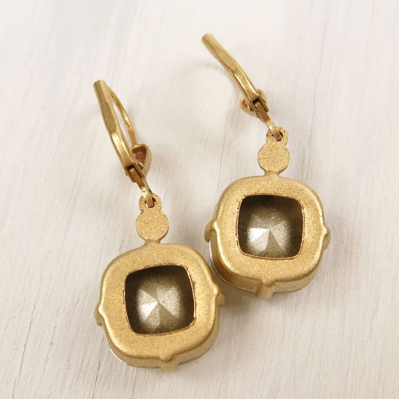 Catherine Popesco Large Crystal Earrings In Champagne TALICH