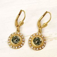 Catherine Popesco Round Crystal Earrings - TALICH