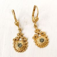 Catherine Popesco Vintage Swirl Small Crystal Earrings in ...