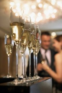 Nice champagne service by your home staff