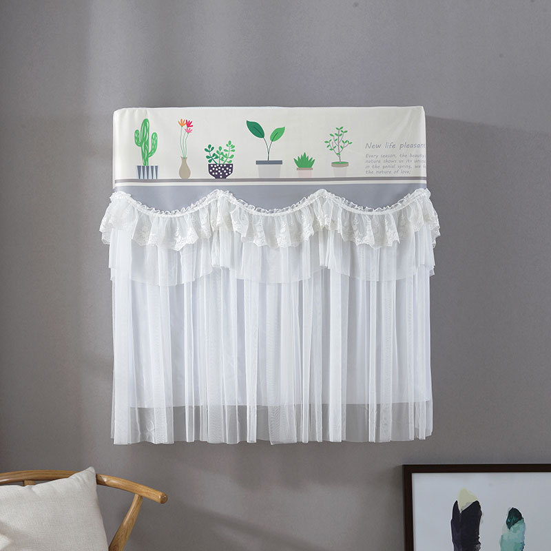 printed air conditioner dust cover curtain