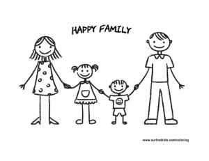 Happy Family » Coloring Pages » Surfnetkids