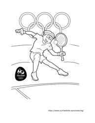 Tennis Summer Olympics 2016 » Coloring Pages » Surfnetkids