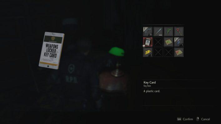 Weapons Locker Key Card Resident Evil 2