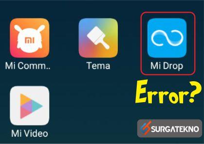 cara mengatasi mi drop error
