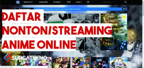 daftar situs streaming nonton anime terbaik