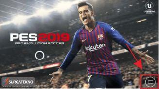 membuka pengaturan game pes mobile 2019