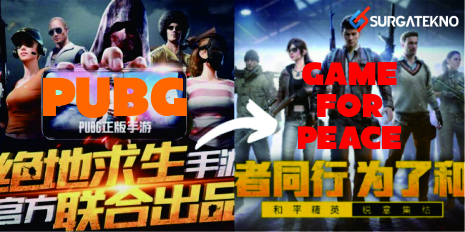 nama pubg di china diganti menjadi game for peace