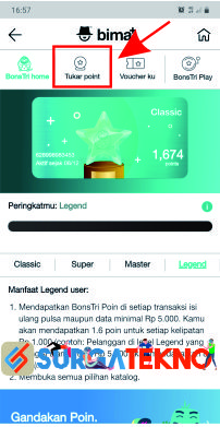 pilih menu tukar point bonstri