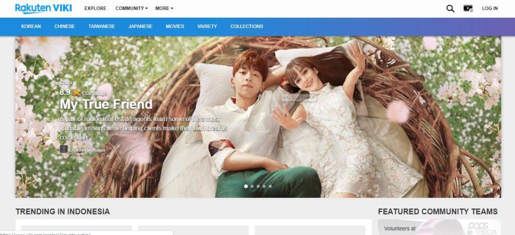 tampilan situs download drama korea viki