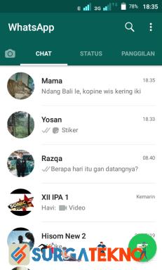 langkah 1 - cara menyembunyikan status online whatsapp
