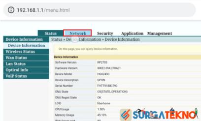 langkah 3 klik menu network