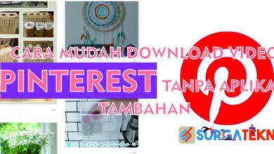 Photo of Cara Mudah Download Video Pinterest 100% Berhasil