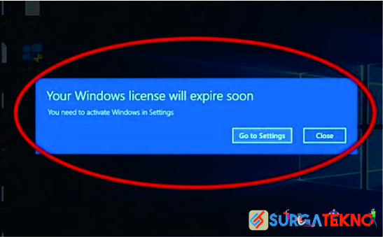 cara mengatasi your windows license will expire soon windows 10