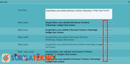 klik copy pada yaytext