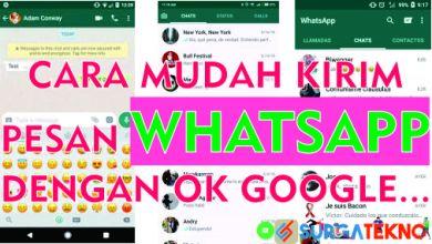 Photo of Cara Mengirim Pesan Whatsapp Lewat Ok Google