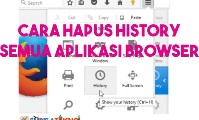 Cara Hapus History Semua Aplikasi Browser