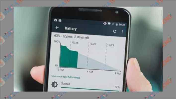 Grafik Penggunaan Daya Baterai Android