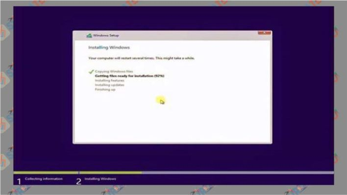 Proses installasi Windows 10 berjalan