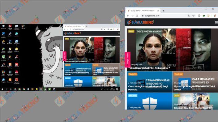 Perbedaan Screenshot Full Screen dan Jendela Aktif