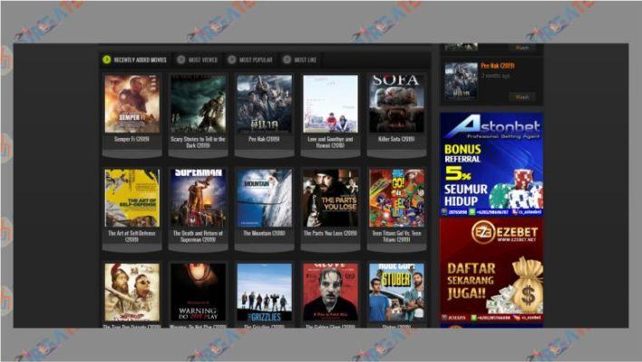 Tampilan Website Bioskop21