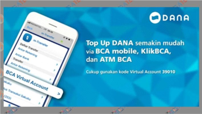 Top Up DANA dengan Bank BCA