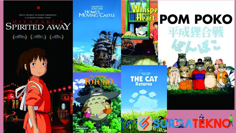 Rekomendasi Film Animasi Ghibli Studio