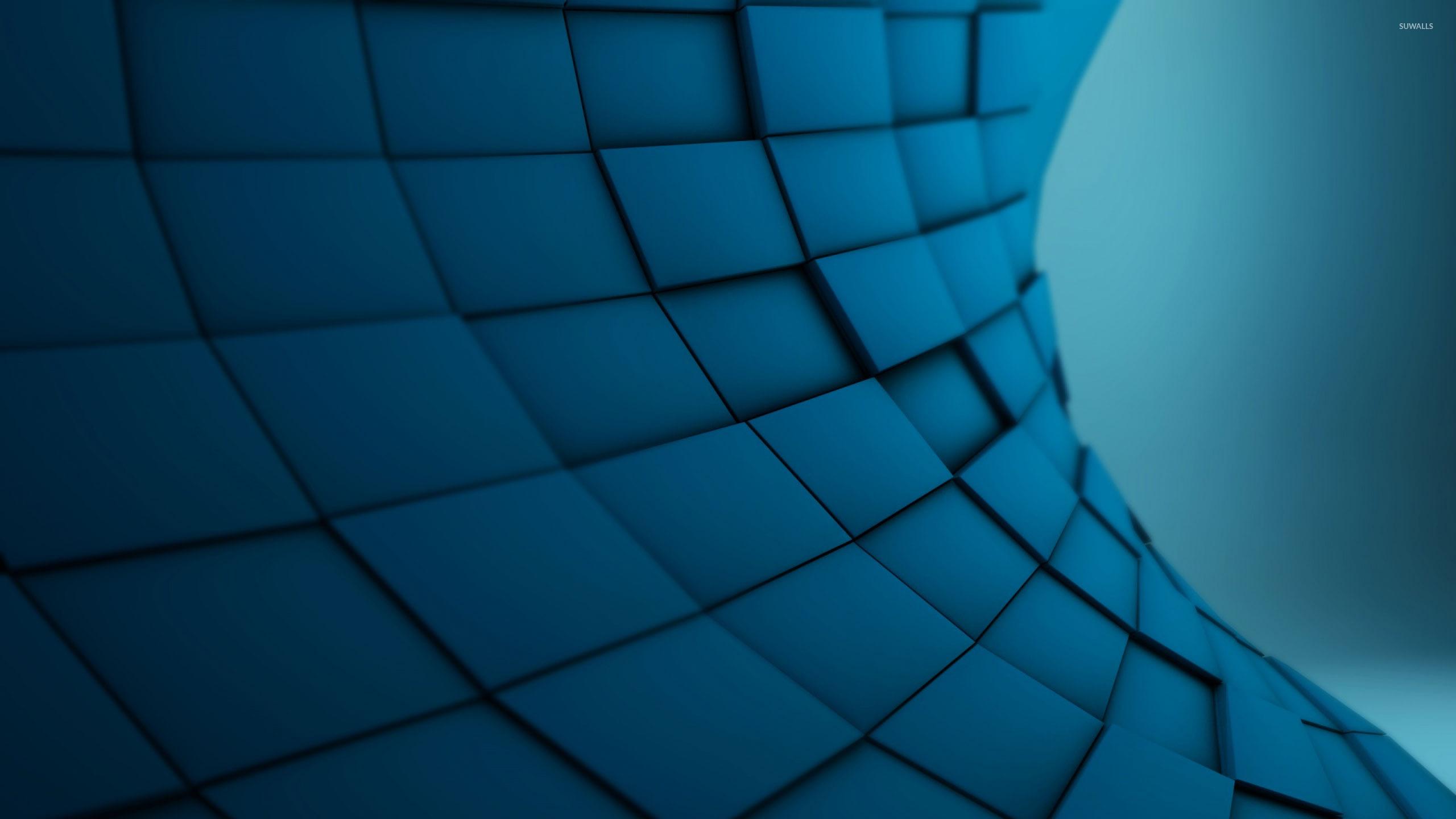 blue tiles 2 wallpaper 3d