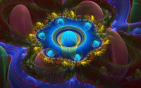 Neon psychedelic design wallpaper - Abstract wallpapers ...