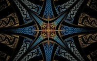 Star like fractal design wallpaper - Abstract wallpapers ...