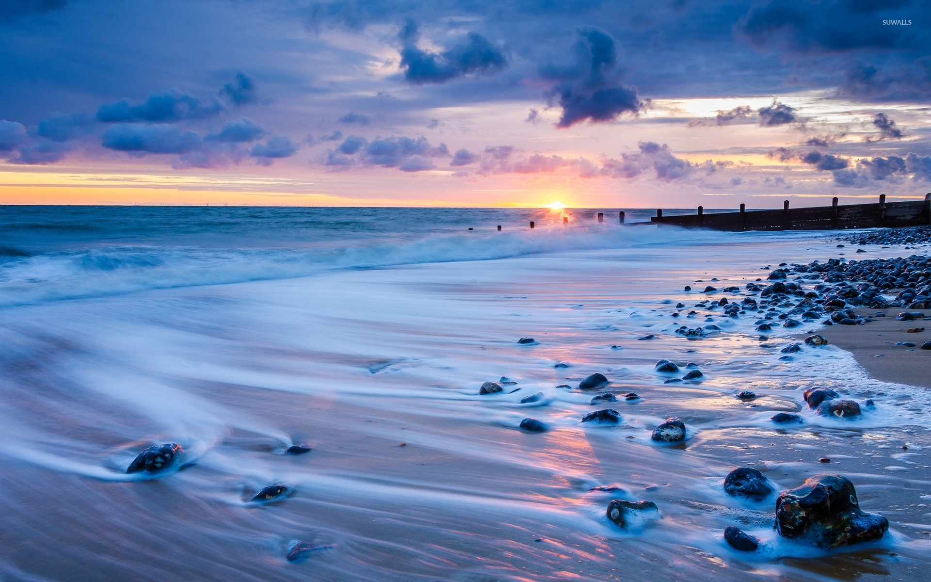 rocks on a sandy