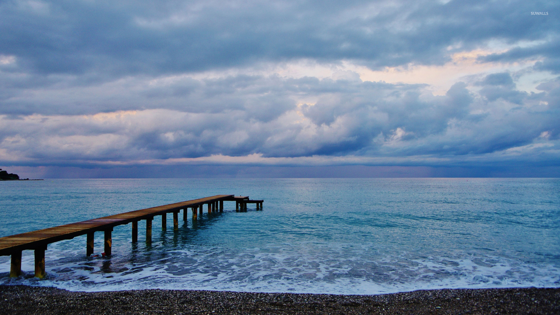 wooden pier to the ocean wallpaper beach wallpapers