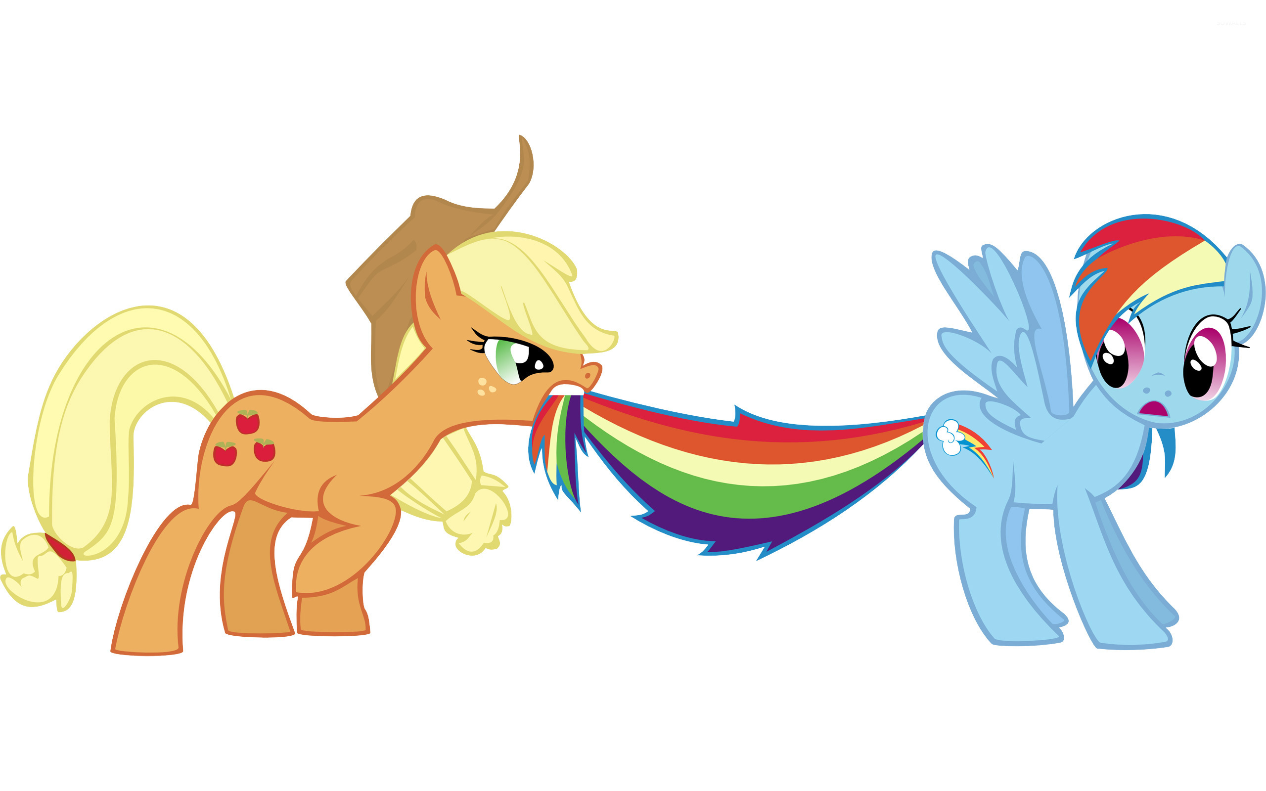 Applejack And Rainbow Dash My Little Pony Wallpaper Cartoon Wallpapers 4740