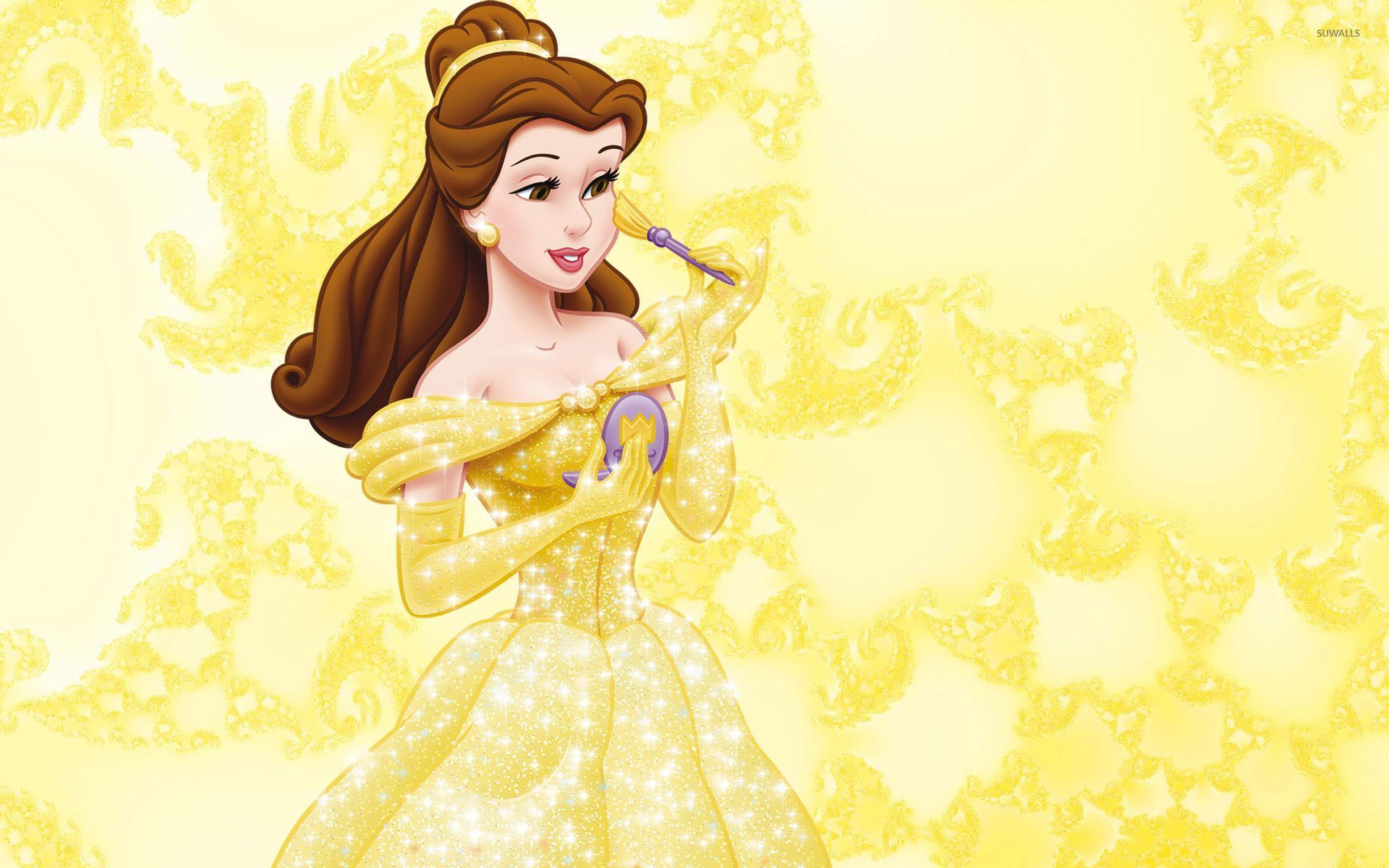 Belle In A Beautiful Golden Dress Beauty And The Beast