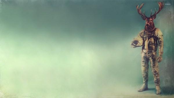 Deer Astronaut Wallpaper - Digital Art Wallpapers #26495