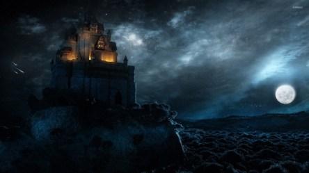 castle fantasy dark coast wallpapers moon sky hd castillo costa negro backgrounds cloud wilmar jericho previa vista wallpaperaccess cafe