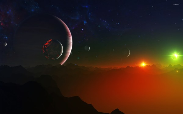Night Sky Strange Planet Wallpaper - Fantasy Wallpapers