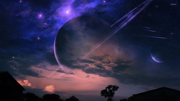 Planets In Night Sky Wallpaper - Fantasy Wallpapers