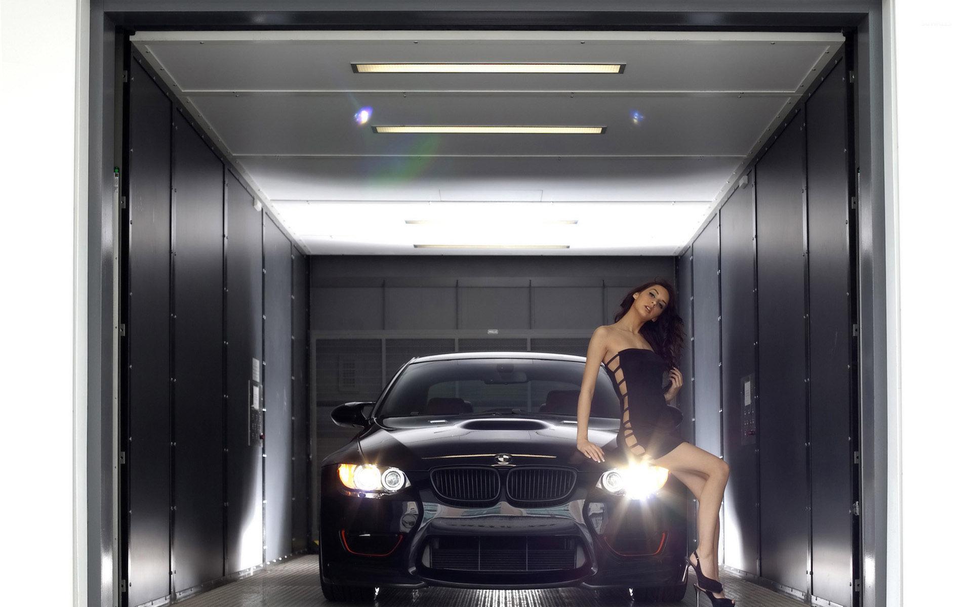 Cute Brunette On A BMW M3 Wallpaper Girl Wallpapers 44763