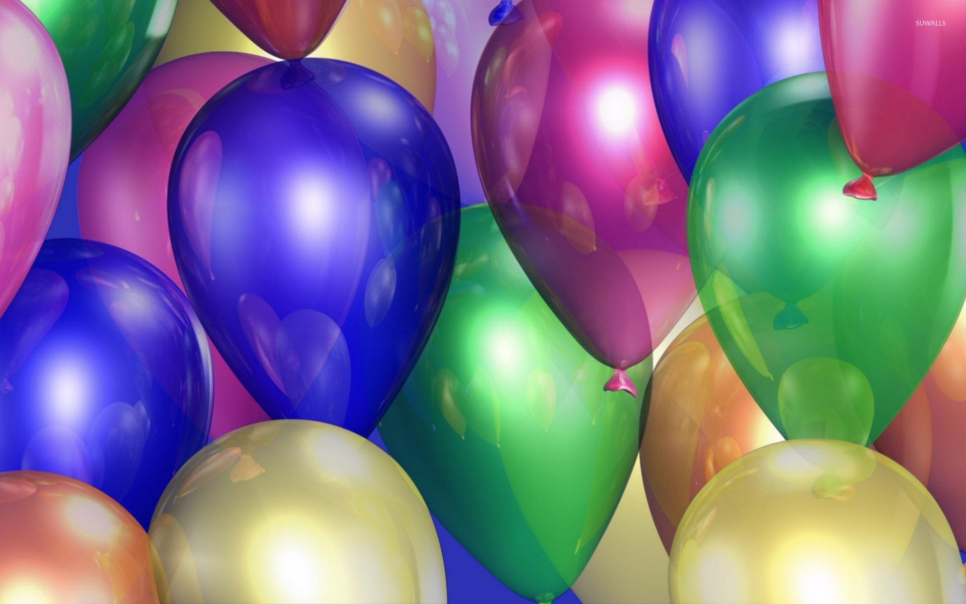 Colorful Shiny Balloons Wallpaper Photography Wallpapers