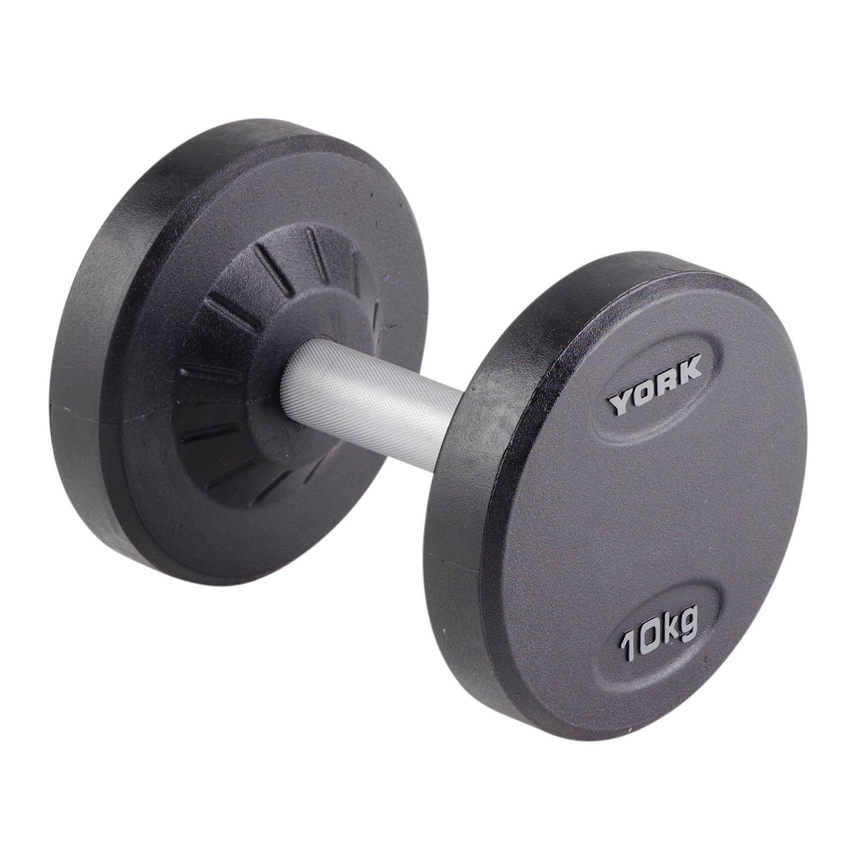 York 10kg Pro-Style Dumbbell - Sweatband.com